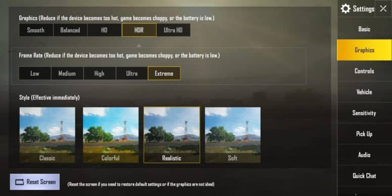 pubg mobile extreme frame rate unlock
