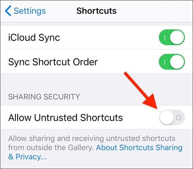 How To Allow Untrusted Shortcuts On Apple